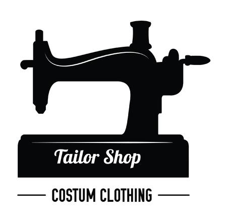 tailor shop: Tailor shop : Sewing label badge