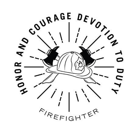 fire fighter: Fire fighter badge Illustration
