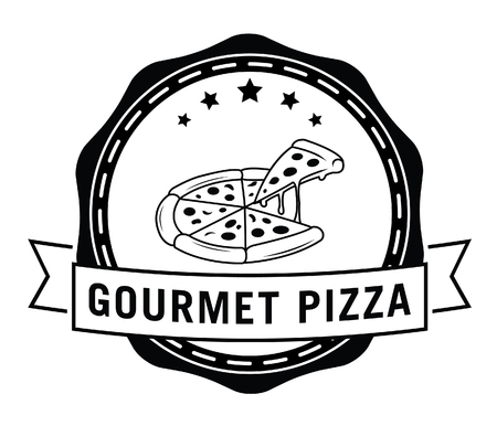 gourmet pizza: Gourmet pizza Illustration