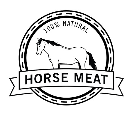 horse meat: Horse meat badge