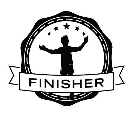 finisher: Finisher : Runner label badge