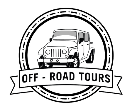 off road: Off road adventure tours badge label