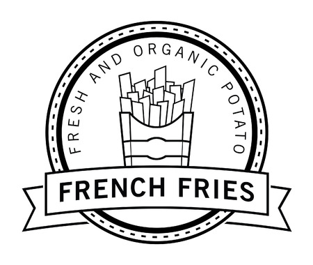 french fries badge