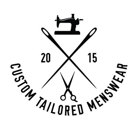 sewing label: Custom tailored menswear : Sewing label badge