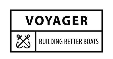 voyager: Voyager building better boats : Voyager badge label