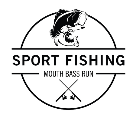 Sport fishing : Fisher label badge
