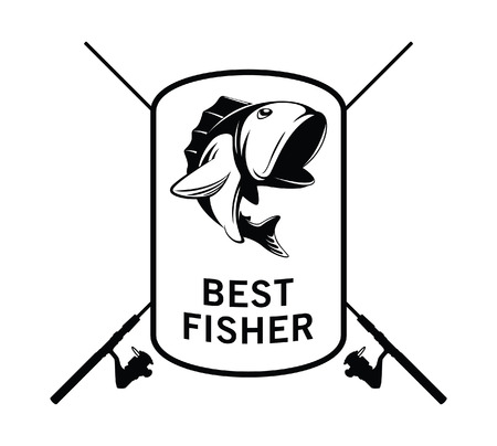 rainbow trout: best fisher badge Illustration