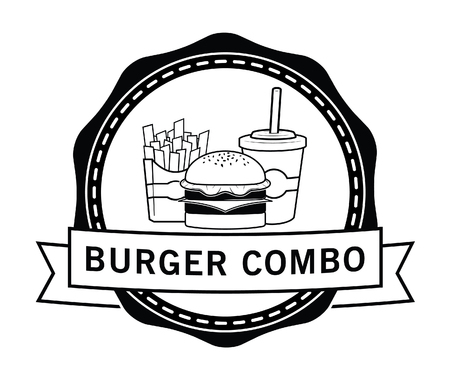 combo: Combo package Burger, french fries  soft drink badge