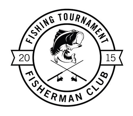 fisher: Fishing tournament : Fisher label badge