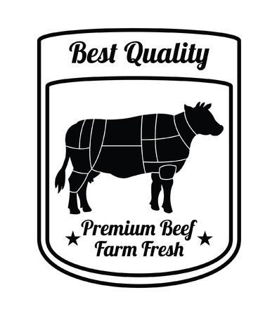 carnicer�a: granja de carne de vacuno de alta calidad fresca: insignia Carnicer�a