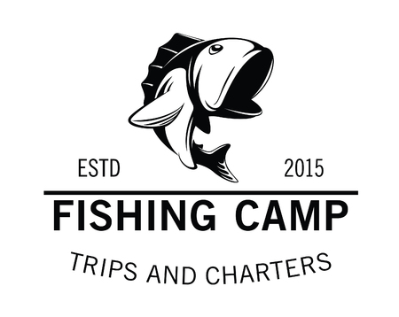 rainbow trout: fishing camp badge