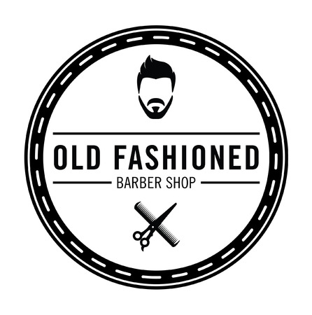 old fashioned: Barber shop Old fashioned badge