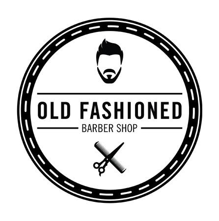 old  fashioned: Barber shop Old fashioned badge