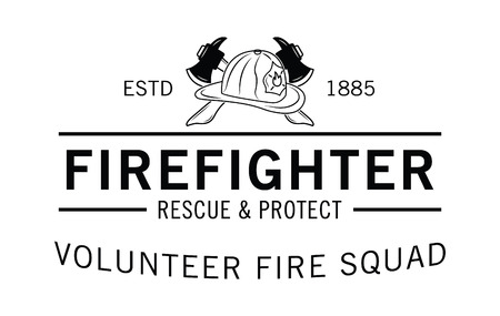 patron: Volunteer fire squad : Firefighter badge