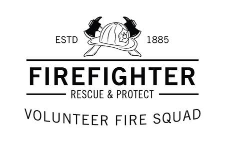 Volunteer fire squad : Firefighter badge Vektorové ilustrace
