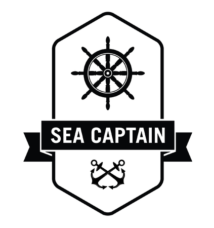 amity: Sea captain - Nautical label badge Illustration