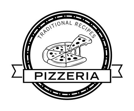 pizzeria label design: Pizzeria badge Illustration