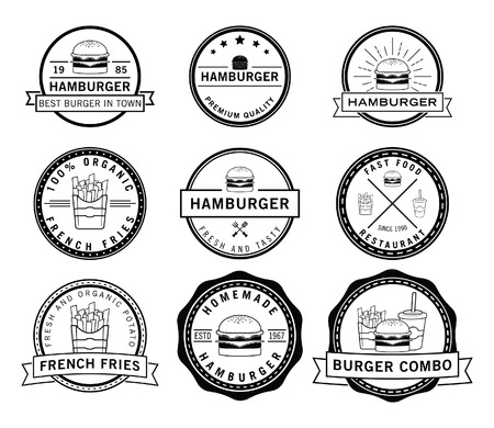 Burger,frenchfries  soft drink badge