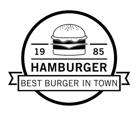 american food: Best Burger,french fries  soft drink badge Illustration