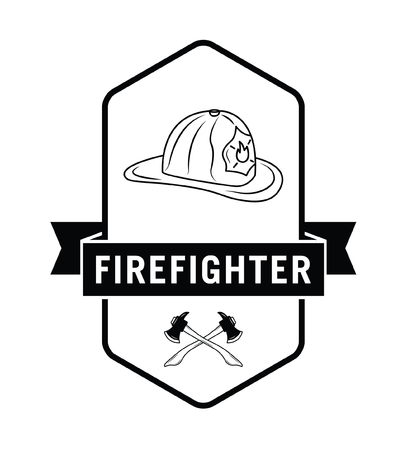 fire fighter: Fire fighter badge Illustration