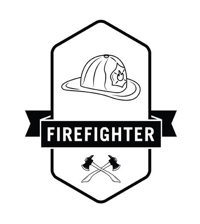 Fire fighter badge Illustration