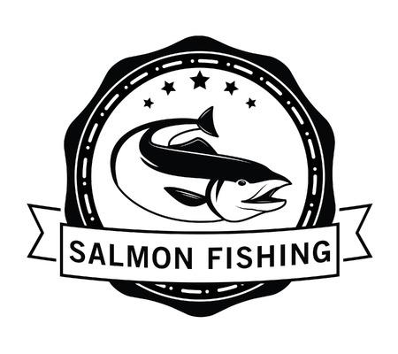 salmon fish: Salmon Fishing : fish badge Salmon fish