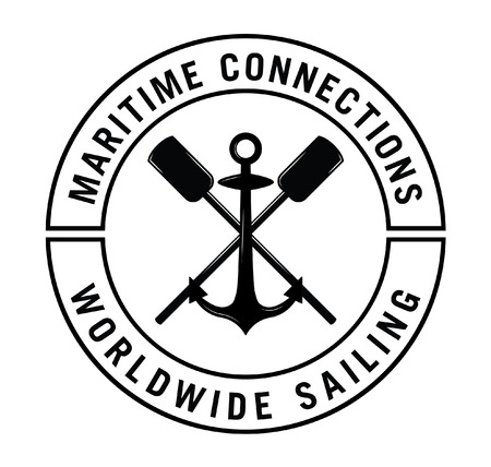 i label: Maritime connections i Nautical label badge