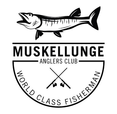 world class: World class fisherman - Musky Fishing fish label badge