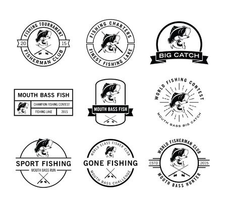 fisher: Fisher label badge Illustration