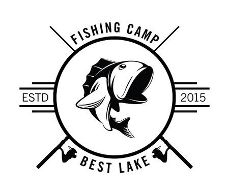 rainbow trout: fishing camp badge