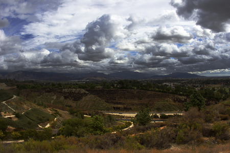Clouds San Fernando Valley HDR photo