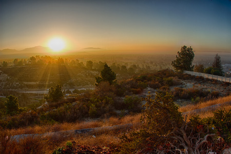 Sunrise San Fernando Valley HDR photo