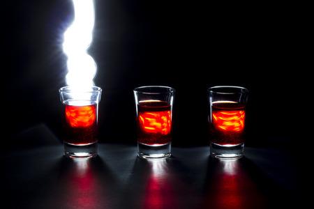 fireball: Shot Glass fireball painting with light