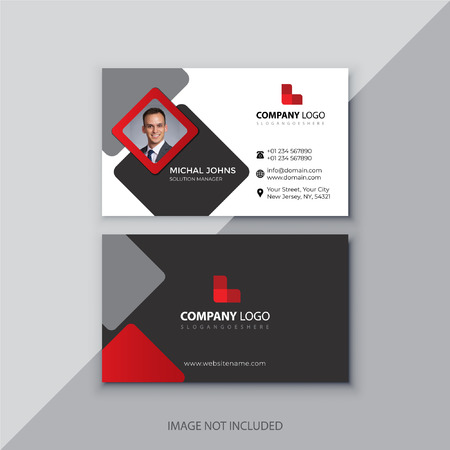 Black and red corporate business card