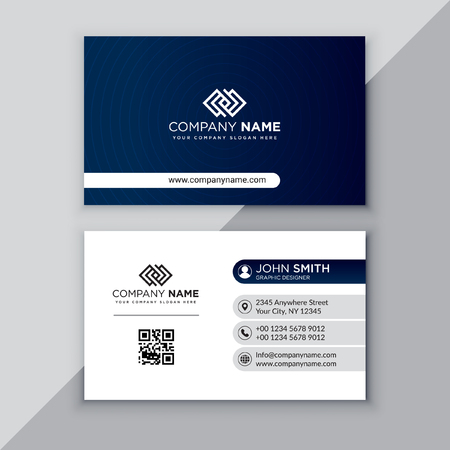 Professional business card template Çizim