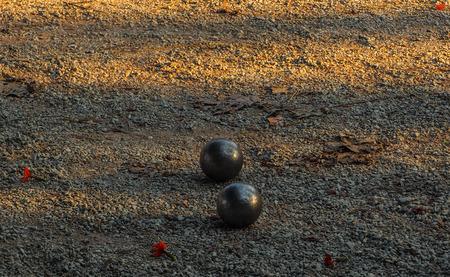 refelction: Balls of steel Stock Photo