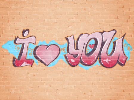 I love you graffiti style