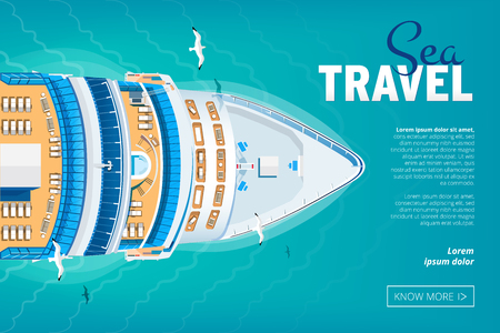 Cruise liner travel banner Stock Photo