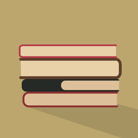 hardcover: Composition with hardcover books Illustration