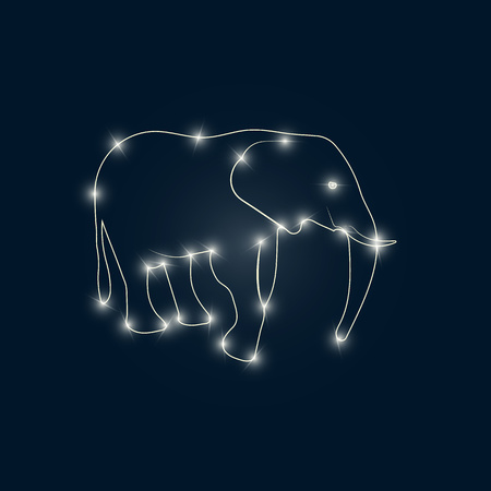 bright: Elephant bright Illustration