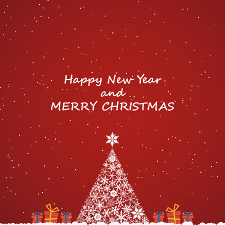 sylvester: merry christmas and new year, invitation background
