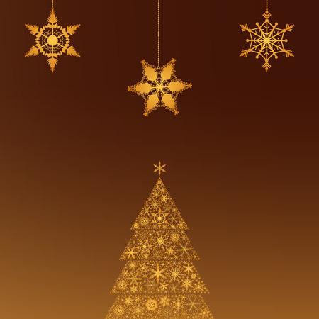 christmas greeting card: Festive Christmas Greeting Card Illustration
