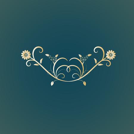 vector floral design separator