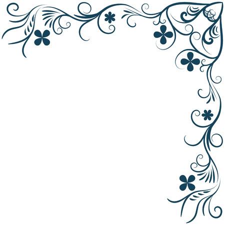 Floral background ornament