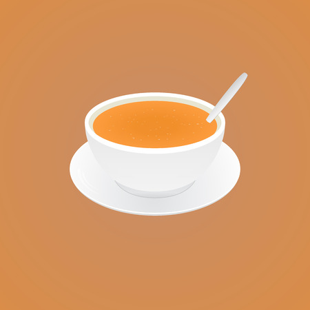 Vector. delicious soup Illustration