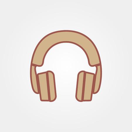 portable audio: headphone icon vector