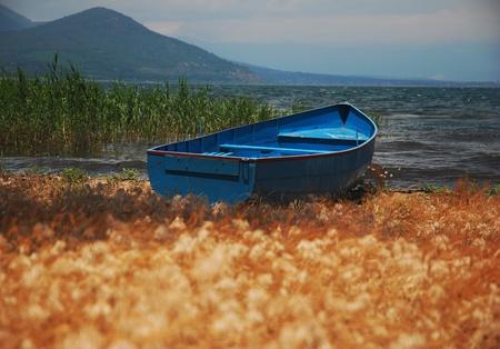Blue Fishing Boat photo