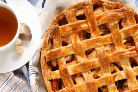 Appeltaart, homemade traditional dutch apple cake