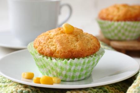 cornbread: Homemade gluten-free muffins from corn flour Stock Photo
