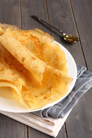 Gluten crepes gratis a partir de harina de arroz, almid�n de patata y harina de mijo con miel